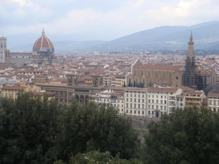 View of Florence with Duomo Bell Tower - Florence