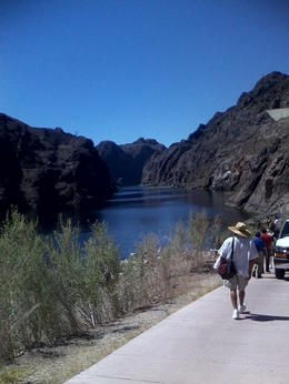 Photo of Las Vegas Black Canyon River Rafting Tour Walking to the departure point