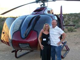 Me and the wife.having just landed in The Canyon , Ian M - May 2011