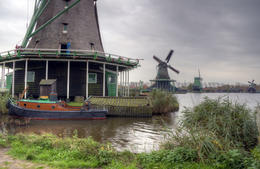 Our day trip ended at Zaanse Schans where several windmills have been preserved; most of them still in operation. , Stuart S - November 2014