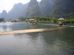 Bamboo rafting on Yulong River - May 2012