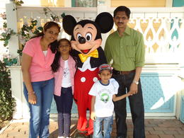 Family photo with Mickey mouse , Madhugiri V M N - May 2011