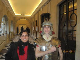 Me with the roman soldier, Bath , beascott - January 2011