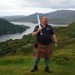 Steve with the broadsword. , Alan H - September 2011