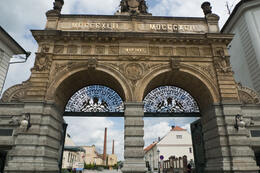 Photo of Prague Glass and Brewery Day Trip from Prague Pilsner Urquell Gate