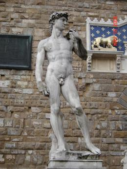 Statue of David in front of Uffizi., Nabarun N - June 2008