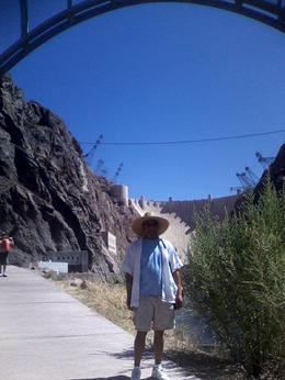 Under the new Hoover Dam Bypass Bridge, keokietta - August 2011