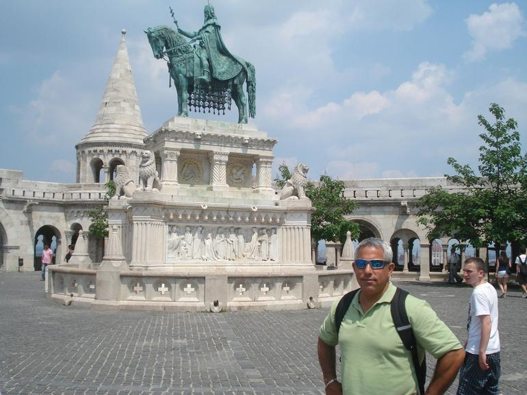 A picture at Fisherman's bastion, Budapest day trip from Vienna - Vienna