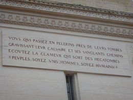 Inscription on memorial at church cemetery, Vimy Ridge , jatypan - September 2015