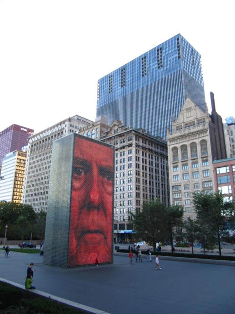 Crown Fountain in Millennium Park - Chicago