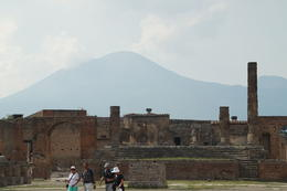 Pompeii with Vesuvius in the background , David W - July 2014