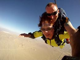 This Jeff and me freefalling. Such a rush. , Lyn P - July 2014