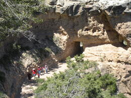 People hiking through the Grand Canyon, charley - June 2011
