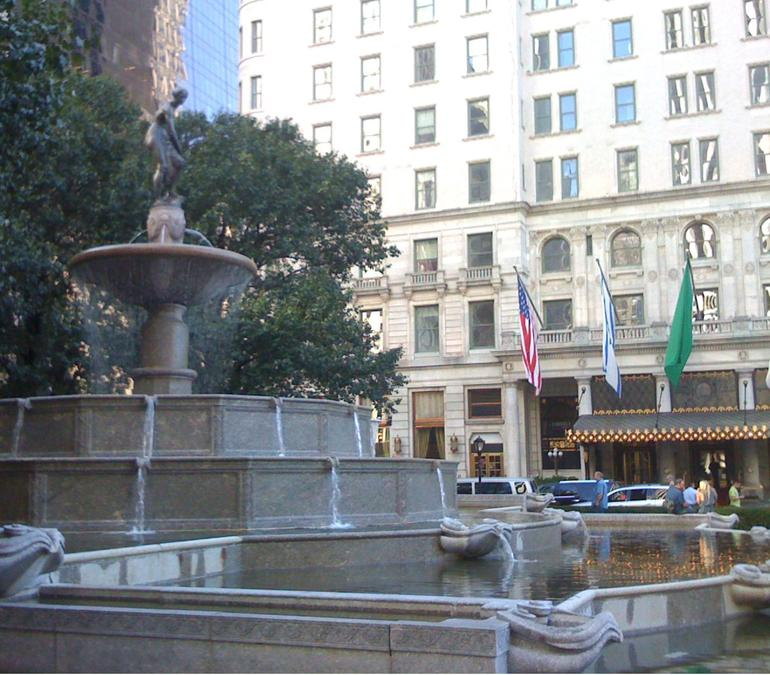 Pulitzer Fountain with Plaza in background - New York City