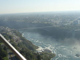 Rainbow bridge from Skylon Tower , PATRICIA S - October 2015
