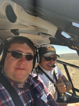 the Pilot and myself on the way back to Las Vegas. , Pierre L - June 2016