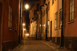 Stockholm Ghost Walk tour: Old Town in Stockholm at night - November 2011