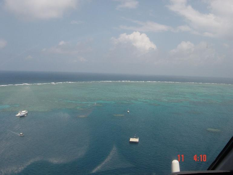 The pontoon helicopter landing pad, Great Barrier Reef - Cairns & the Tropical North