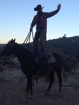 Photo of Las Vegas Wild West Sunset Horseback Ride with Dinner wrangler