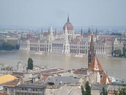 "We had a very good, sunny day in Budapest. This picture of Parliament situated in ""Pest"" was taken from ""Buda"". The two sides are separated by the river Duna., David F - July 2010"