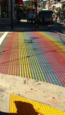 Walking through the Castro you'll see these beautiful rainbow streets , Marc M - May 2015