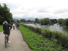 Photo of London Hampton Court Palace Bike Tour from London Cycling along the Thames