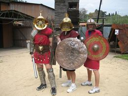 Photo of Rome Roman Gladiator School: Learn How to Become a Gladiator Dad, Nic and Cory at Be a Gladiator