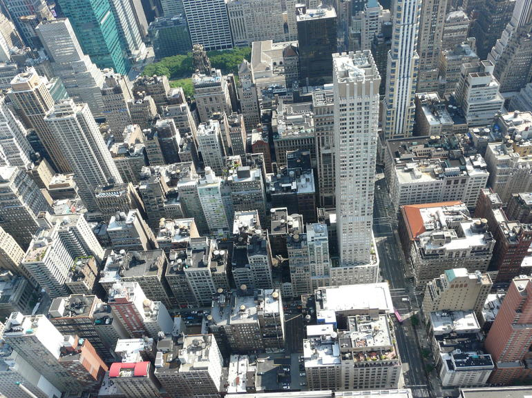 Du haut de l'Empire State Building. - New York City