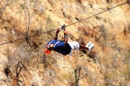Photo of Los Cabos Los Cabos Canopy Tour Going backwards on the tandem lines!
