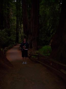 My wife, Mieke, on the trail in Muir Woods, Harold H - June 2009