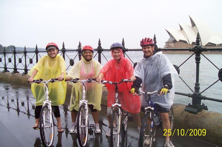 We always dress like this for a casual bike ride around Sydney...