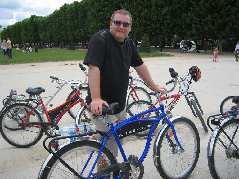Me, on a bike tour in Paris - Paris
