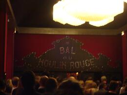 The entrance of the Moulin Rouge Show - August 2010