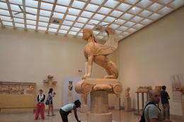 Photo of Athens 3-Day Classical Greece Tour: Epidaurus, Mycenae, Nafplion, Olympia, Delphi Museum at Delphi - Statue of Sphinx