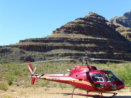 Helicopter on the ground in the Grand Canyon. , Patricia B - August 2014