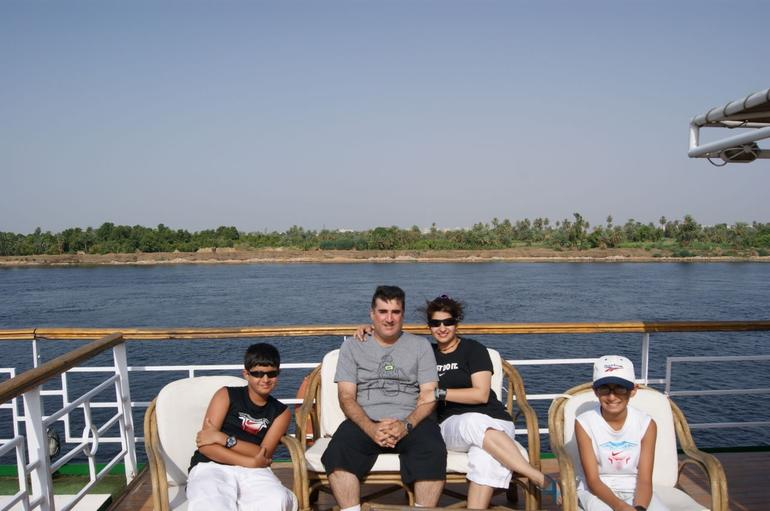 On the upper deck - Aswan