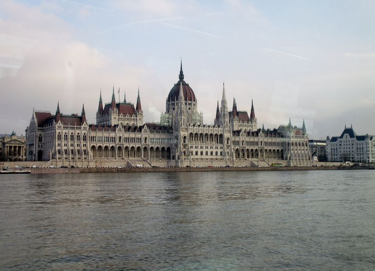 The impressive Parliament building viewed from the boat.