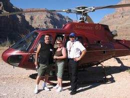 Photo of Las Vegas Grand Canyon All American Helicopter Tour Ron, Barb and Pilot Travis
