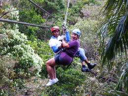 Photo of Roatan Roatan Shore Excursion: Zip 'n' Dip Canopy Tour Safe in your mamma's arms.