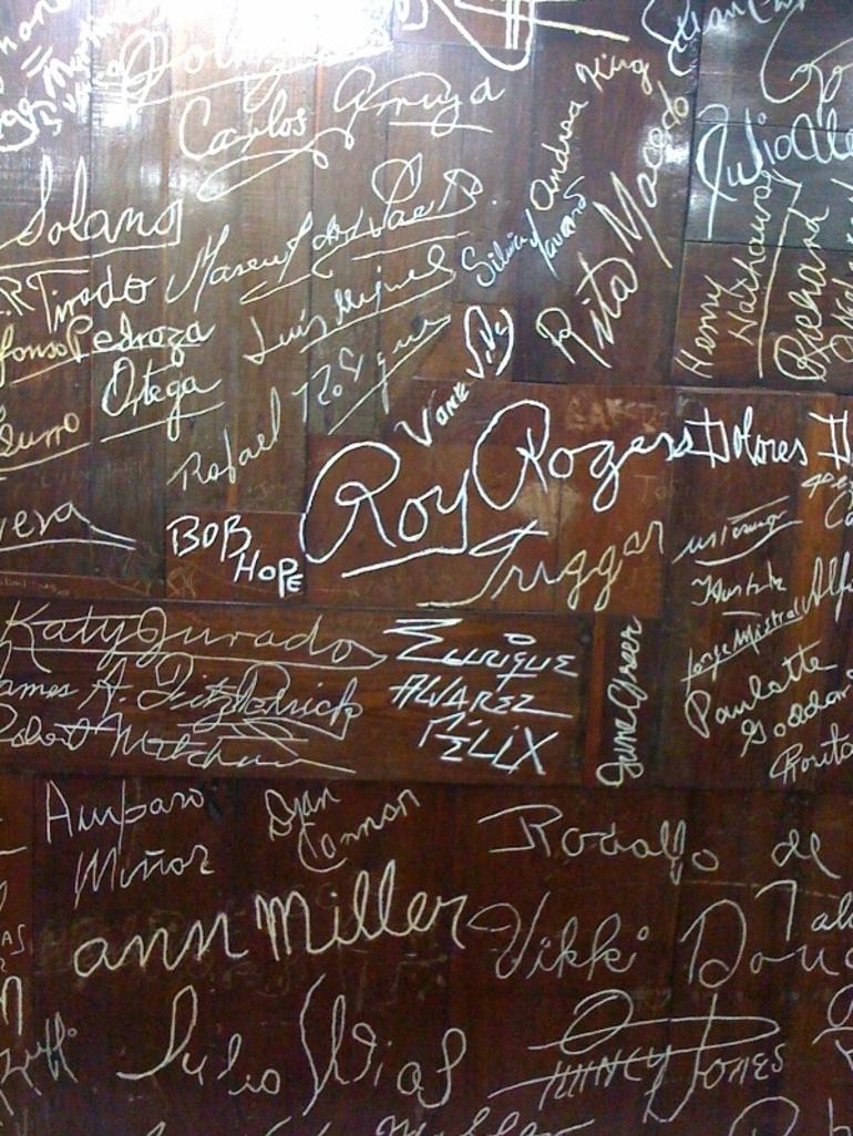 Signatures on Wall of Fame - Acapulco