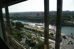 Photo of Paris Eiffel Tower Dinner and Seine River Cruise View from the restaurant in the tower.