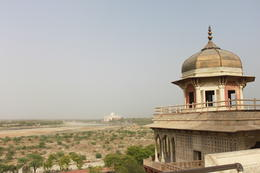 Balcony in Agra Fort with amazing views of the Taj Mahal - September 2012