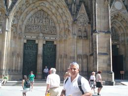 The architecture of this church is gothic. It is one of the most impressive buildings in Prague., David F - July 2010