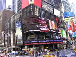 In the heart of Times Square, viewed from bus., Joyce P - September 2008
