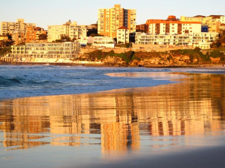 Golden sunset at Bondi -