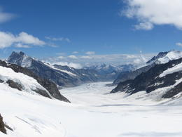 view of the Aletsch glacier , Norvie A - July 2012