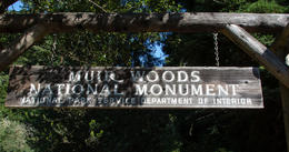 This is the entrance to Muir Woods , Mark L - September 2013