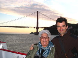 Mum & I and the Golden Gate Bridge, SF Bay cruise - June 2011