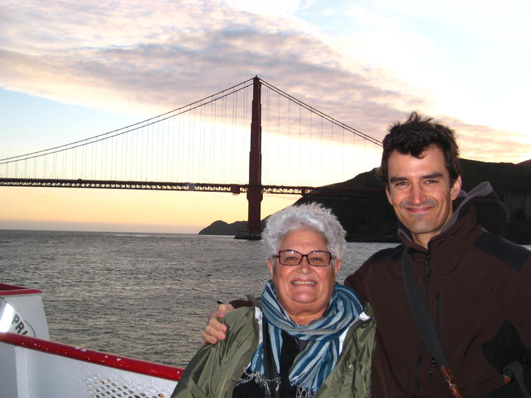 Mum & I and the Golden Gate Bridge, SF Bay cruise - San Francisco