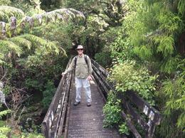 Paul is anxious to get started on our walk through the Puketi Rainforest March 2014 guided by Ian. , Marjorie R - April 2014